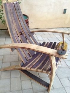 Wine Barrel Adirondack Chairs & when I want to make this: http://www.woodworkersworkshop.com/store/index.php?app=ccp0&ns=prodshow&ref=21_5851