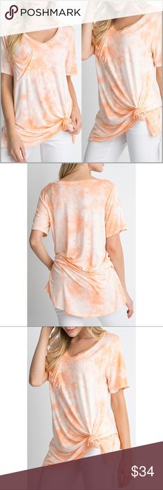 """Flamingo Boyfriend Pocket Tee Flamingo Boyfriend Pocket Tee.  *V-Neck *Pocket on front *94% Rayon 6% Spandex *Super soft and flowy material *Is NOT pre-knotted *Small slit up each side  Measurements: Small:         Bust: 36"""" Length: 28"""" Medium:    Bust: 38"""" Length: 29"""" Large:        Bust: 40"""" Length: 29.5""""  ❗️Price is firm unless bundled❗️ #P0C3641584 Tops Tees - Short Sleeve"""