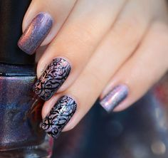 NAIL ART FORET ENCHANTEE