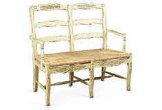 Catherine 2-Seat Bench, Parchment on OneKingsLane.com