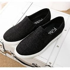 Lapos sarok - Bőr Mokaszinok/Kerek orrú - NŐK - Divatos cipők ( Fekete/Ezüst/Arany ) – USD $ 24.99