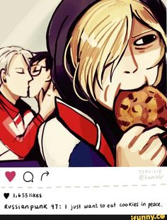 When you just want to eat cookies in peace, but your idol and his boyfriend are making out in front of you.