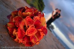 Polo Beach sunset located right in front of the @Darla Runge Kea Lani. Beautiful bouquet of flowers.  Photo by www.TadCraigPhotography.com