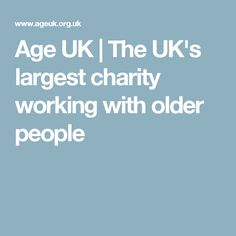 Age UK | The UK's largest charity working with older people