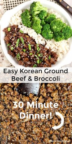 If you are looking for something to make with ground beef, this Korean Ground Beef & Broccoli is a super simple meal made with just a few pantry ingredients and it couldn't be any easier. Made in under 30 minutes!! #groundbeef #easyrecipes #30minutemeal