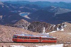 Pikes Peak Cog Railway Colorado Springs, Colorado definitely a must do for anyone visiting Colorado Springs