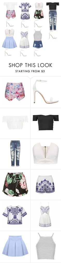 """How to style: a pair of white pumps for a week"" by zoemoecker ❤ liked on Polyvore featuring Ally Fashion, Zara, Topshop and Current/Elliott"