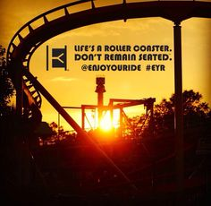Life's a roller coaster. Don't remain seated. @ENJOYOURIDE #EYR www.looseleafbrands.com