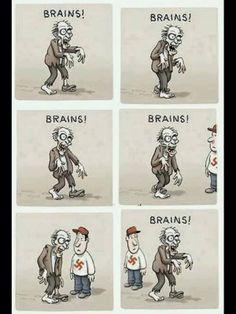 Warum sich Nazis keine Gedanken über die Zombie Apokalypse machen müssen (vereinfacht)