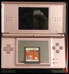 Metallic Rose Nintendo DS Lite w free Tinkerbell game and stylus  #Nintendo