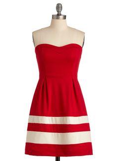 Red Nautical Bridesmaid Dress