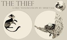 thaumatrope a další na http://mimetalk.deviantart.com/art/Life-Of-A-Bee-203462301 apod.