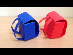 折り紙のランドセル 立体 簡単な折り方 backpack 3D Origami - YouTube