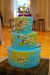 travel birthday cake