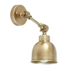 Add a touch of sophistication to any space with our Brompton antique brass wall light. View its distinctive industrial shade online or in-store. Loft Wall, Old Libraries, Anglepoise, Brompton, White Cottage, Antique Brass, Sconces, Art Pieces, Wall Lights