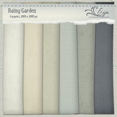 Rainy Garden paper pack by Eijaite.deviantart.com on @deviantART