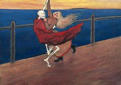 Hugo Simberg (Finnish, Dancing Death Oil on canvas. Bukowski's, Helsinki, 30 May Dance Of Death, Marvel Movies In Order, Danse Macabre, Macabre Art, Superhero Movies, Arte Pop, Memento Mori, Make Art, Oeuvre D'art