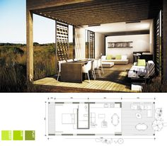 Ecomo: EM 02 (South Africa) Small Apartments, Small Spaces, Tiny House Big Living, Prefab Houses, Micro Apartment, Bamboo Design, Granny Flat, Compact Living, Bedroom House Plans