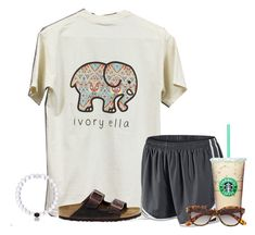 """""""Really want this shirt!!! So cute"""" by flroasburn ❤ liked on Polyvore featuring NIKE, Birkenstock and H&M"""