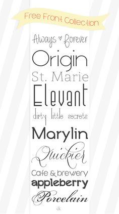 Free Fonts ||  CarolineKidderPhotography  ~~ {10 Free fonts w/ easy download links}