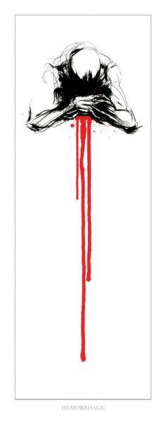 Hemorrhage by Derek Hess ( my favorite )