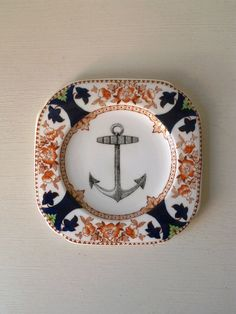 Vintage Nautical Anchor Plate Altered Art by TheLuckyFox on Etsy, $20.00