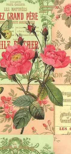 Paris Rose paper, perfect for making valentines, made in Italy by Rossi