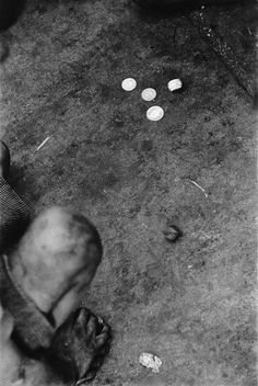 Sergio Larrain - Chile. Los Abandonados , 1957 - They work with older men who use them for begging, teaching them the routine and habits and crime which is their only future. The kids are shy of the poor houses, because they are badly treated and fed. Often people give them money and food.