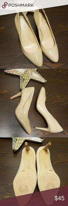 Vince Camuto Nude Pump. NWOB. Size 7.5 Vince Camuto Patent Pump. Nude. NWOB. Size 7.5 Shoes