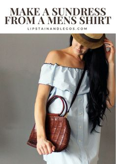 Make a Sundress DIY from an old mens button-down. I love the refashion idea! Click here for the full tutorial.