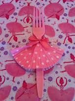 Frilly fork | little girl's birthday party idea