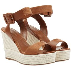 Sergio Rossi Leather Wedges found on Polyvore