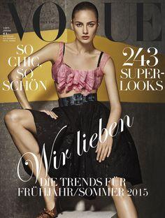 Karmen Pedaru, Vogue Magazine [Germany] (January 2015)