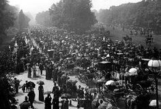 English Photographer - Rotten Row in Hyde Park, London, c.1890