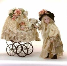 Annette Himstedt The beautiful collectible himstedt DOLLs Victorian Flowers, Victorian Dolls, Antique Dolls, Vintage Dolls, Antique Items, Dollhouse Dolls, Miniature Dolls, Dollhouse Miniatures, Minis