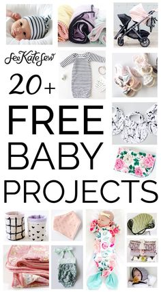 20+ FREE baby sewing projects!