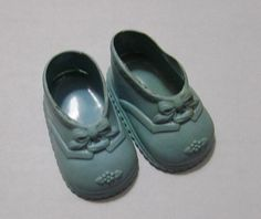 Vintage Baby Doll Shoes in Blue No. 2 by VictorianWardrobe on Etsy, $7.99