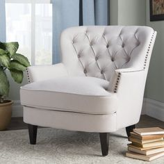 Get inspired by Traditional Living Room Design photo by Wayfair. Wayfair lets you find the designer products in the photo and get ideas from thousands of other Traditional Living Room Design photos. Fixer Upper Living Room, My Living Room, Living Room Furniture, Small Living, Office Furniture, Furniture Ideas, Furniture Buyers, Office Decor, Club Chairs