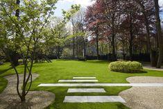 Modern terrace - Garden Design by Jan Joris TuinArchitectuur Modern Landscape Design, Modern Garden Design, Contemporary Garden, Modern Landscaping, Garden Landscaping, Modern Design, Terrace Garden Design, Home Garden Design, Garden Pool