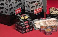 Emballages pour Délecta - Plaisir cochon. Une réalisation de @leBel communication #Packaging #emballage Communication, Packaging, Branding, Brand Management, Wrapping, Communication Illustrations, Identity Branding