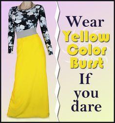 Yellow skirt lookbook