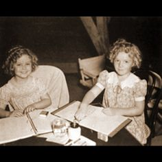 Shirley Temple and stand-in 1936