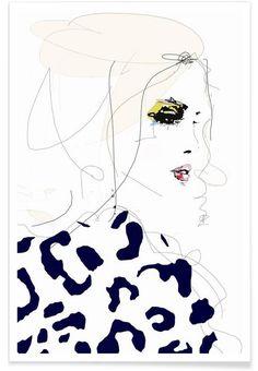 Draw the line en Affiche premium par Leigh Viner | JUNIQE