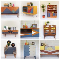 Retro: love it or hate it? This was the most popular furniture flipping trend a Retro Furniture Makeover, 70s Furniture, Upcycled Furniture, Unique Furniture, Painted Furniture, Furniture Design, Coaster Furniture, Retro Home Decor, Ikea