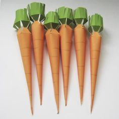 Printable Carrot treat boxes. Great for Easter!