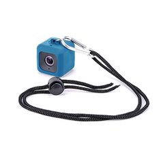 Minisuit Pendent Case for Polaroid Cube HD with Necklace Lanyard and Carabiner Clip - Blue