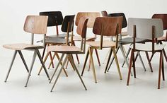The Galvanitas chairs are perfect for project design. When you need a large amount of chairs, the chair by Galvanitas is there for you! Furniture Styles, Sofa Furniture, Vintage Furniture, Furniture Design, Furniture Inspiration, Interior Inspiration, Design Bauhaus, School Chairs, Curved Wood