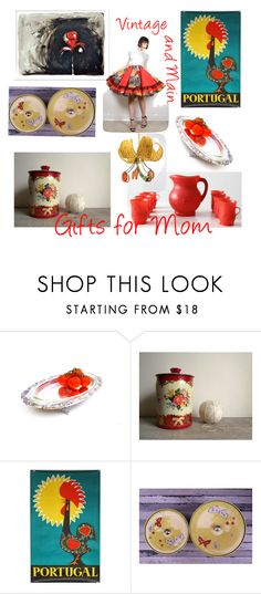 """Gifts for Mom"" by plumsandhoneyvintage ❤ liked on Polyvore featuring interior, interiors, interior design, home, home decor, interior decorating and vintage"