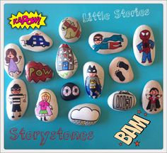 Hey, I found this really awesome Etsy listing at https://www.etsy.com/listing/219357060/story-stones-superhero-mix