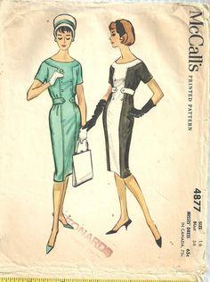 McCalls 4877 / Vintage 50s Sewing Pattern / by studioGpatterns